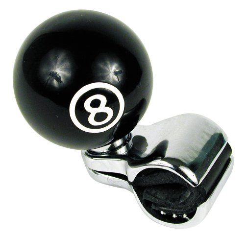 Custom Accessories 16258 Black 8-Ball Style Steering Wheel Spinner Knob Steering Knob