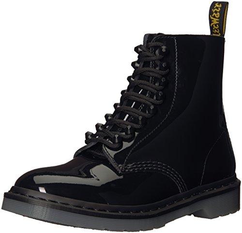 Dr. Martens Women's Pascal Stud Ankle Boot, Black Patent, 6 Medium UK (8 US)