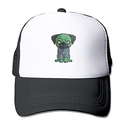 Halloween Zombie Pug Trucker Hat Snap Back Sun
