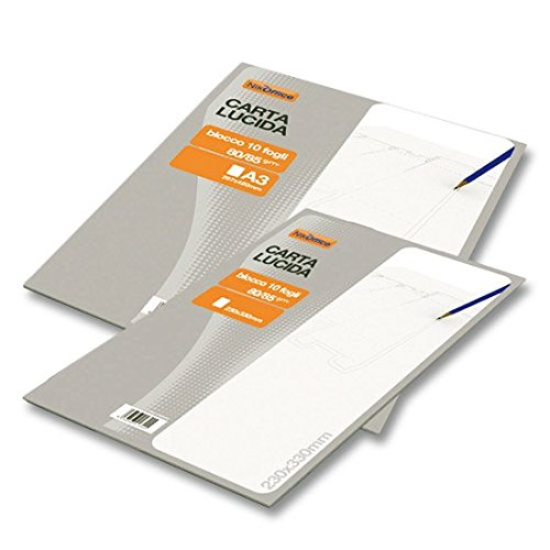 Blocco Collato Carta Lucida 230X330Mm 10Fg 80Gr Nikoffice