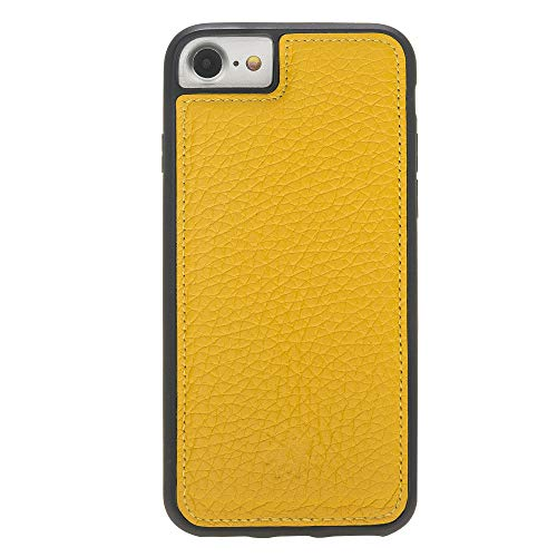 Venito Lucca iPhone 8 / iPhone 7 Leather Case, Snap-On Back Cover for iPhone 8/7 | Slim and Lightweight | Handcrafted Premium Full Grain Leather (Yellow)