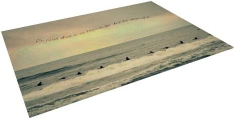 "Kess InHouse Robin Dickinson ""Pieces of Heaven"" Tan Beach Indoor/Outdoor Floor Mat, 8-Feet by 8-Feet"