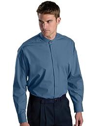 Men's Big And Tall Banded Collar Long Sleeve Shirt