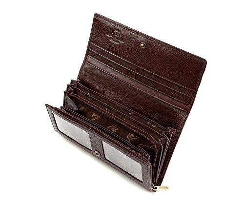 WITTCHEN Portafoglio, Dimensione: 18,5x10cm, Marrone, Materiale: Pelle di grano, Orizzontale, Collezione: Italy - 21-1-052-44
