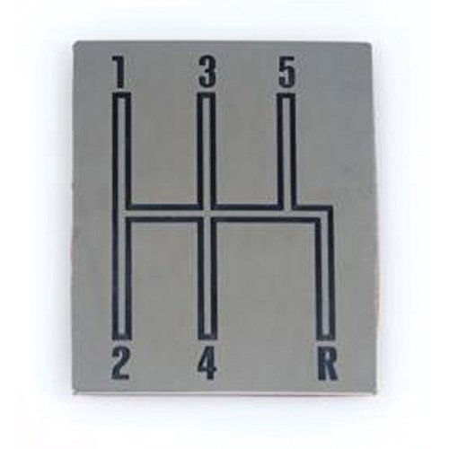 Console Indicator Shift Plate - Eckler's Premier Quality Products 50-241554 - Chevelle Shift Indicator Plate, Console, 5-Speed