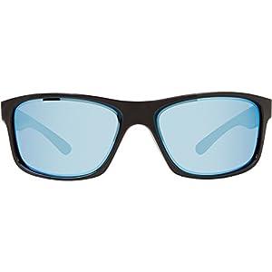 Revo Mens Harness RE4071-02 Polarized Iridium Sport Sunglasses,Polished Black,55 mm