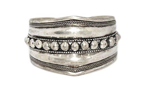 Gypsy Bracelet Cuff Bracelet Tibetan Bracelet Boho Bracelet Silver Bracelet