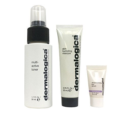 Dermalogica Repair Rehydrate Renew Set, UltraSmoothing Eye Serum, Skin Hydrating Masque, Multi-Active Toner (Travel Size)