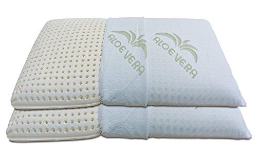 baldiflex Pair Latex Pillows Soap Dish, Breathable, Anti Dust Mite Aloe...