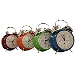 Sternreiter Double-Bell Mechanical Alarm Clock - Fire Red MM 111 602 37