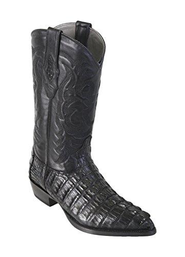 Los Tail Men's Black Toe Boots Skin Leather Altos Genuine J Western Caiman rZUrwaSq