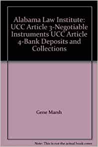negotiable instruments article review Secured transactions and negotiable instruments secured transactions and negotiable instruments are two important areas of commercial  (ucc) article 9 in.