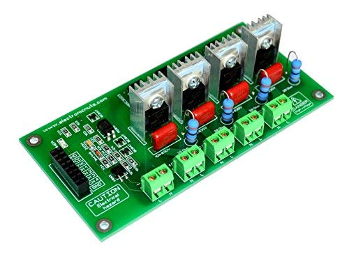- 4 Channel V2 AC 500W-1000W Programmable Light Dimmer Module Controller Board Arduino Raspberry MIC Compatible 50/60hz Phase Control