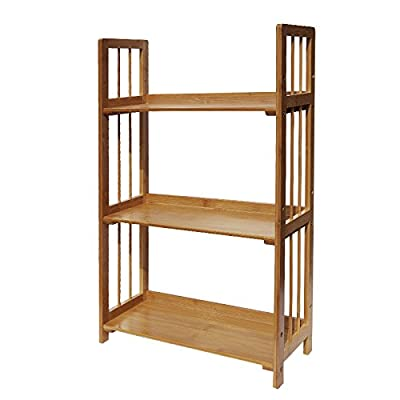 Yi Hai Bamboo Desktop Organization 3-Tier Small Book Rack Counter Top Bookshelf - 100% Bamboo production Easy to install 3 Shelf bamboo tower - living-room-furniture, living-room, bookcases-bookshelves - 4101b3EyN4L. SS400  -