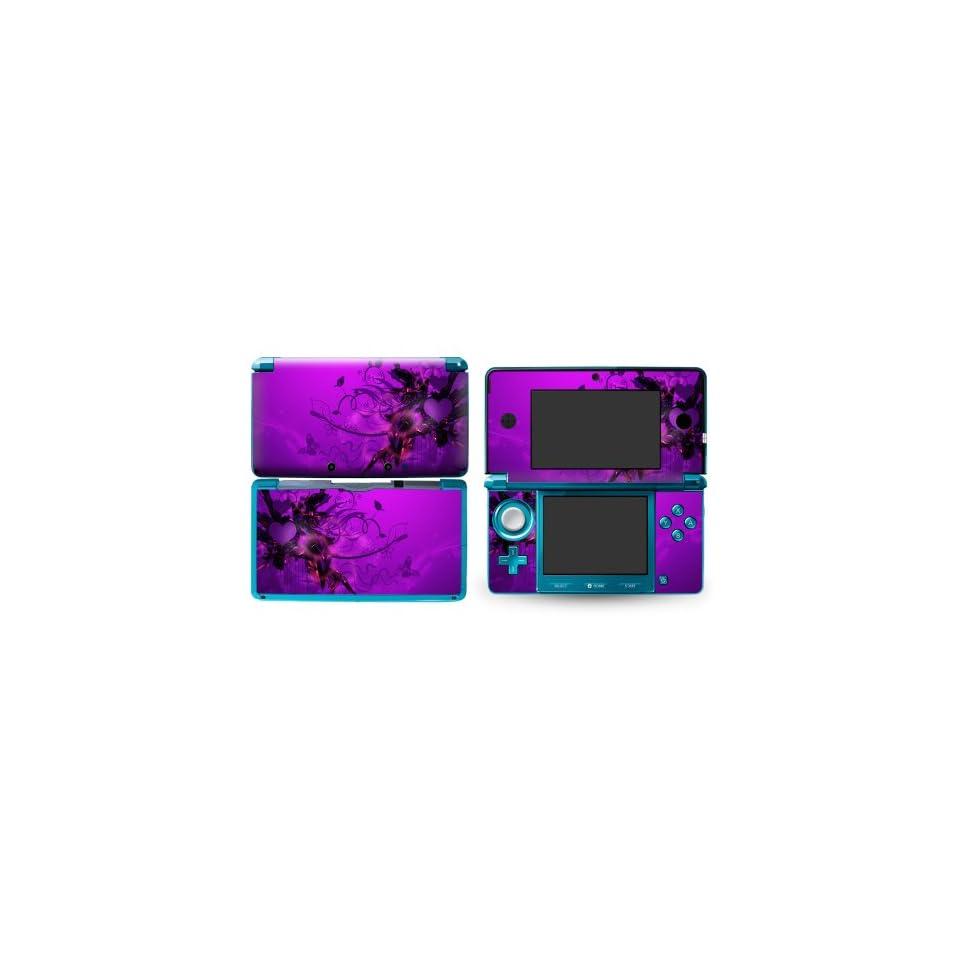 Bundle Monster Nintendo 3ds Vinyl Skin Cover Art Decal Sticker Protector Accessories   Purple Mist