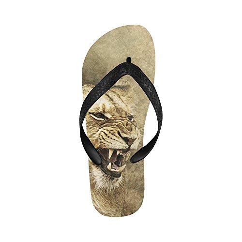 D-Story Lioness Flip Flops Beach Sandals For Men/Women
