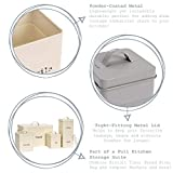 Harbour Housewares Industrial Biscuit Tin - Vintage Style Steel Kitchen Storage Caddy with Lid - Cream