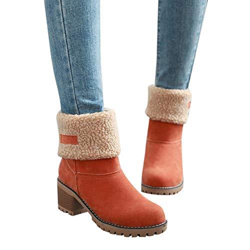 Women's Ladies Winter Shoes Flock Warm Boots Snow Boots Short Bootie 35-43