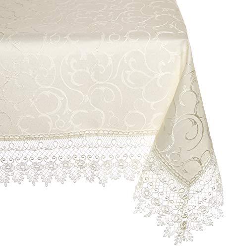 (HomeCrate Flower Bow Vintage Lace Design tablecloths 54