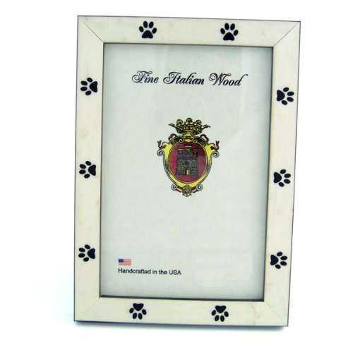 White Burl & Black Paw Picture Frame - Large
