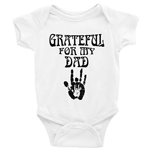 LiliGift Grateful for My Dad Infant Bodysuit Baby Deadhead Grateful Dead Baby (6 Months)