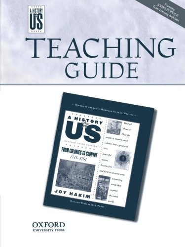 Read Online Teaching Guide from Colonies to Country: Middle/High School Teaching Guide, A History of US: Teaching Guide Pairs with A History of US Book Three PDF