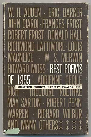 Best Poems of 1955 Borestone Mountain Poetry Awards 1956