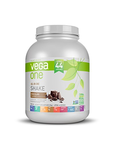 Vega All-in-one Plant Based Protein Powder, Chocolate, 4.47 Lb, 44 Servings, 71.5 Ounce by Vega