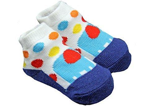 New Colourful Blue Elephant Socks Baby Boy 0 6 Months Amazon Co