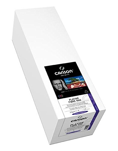 One Contains 50' Roll (Canson Infinity Platine Fibre Rag Art Paper, 310 Gram, 24 Inch x 50 Foot Roll)