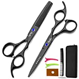 Best Thinning Shears - Chiulan 6inch hair shears set professional barber scissors Review
