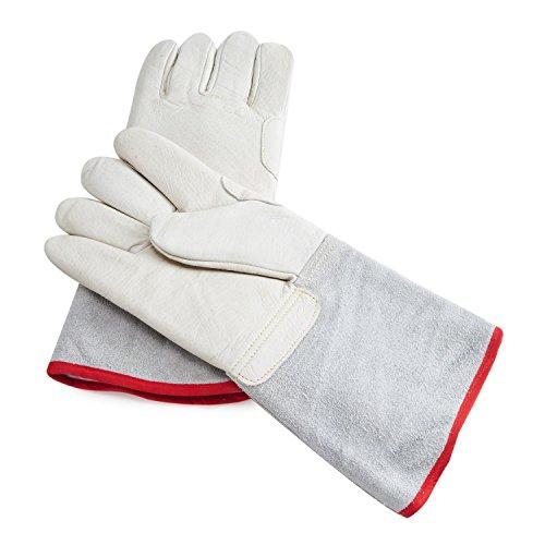 Mid-arm Cryogenic Gloves Waterproof Protective Work Gloves Liquid Nitrogen Frozen Gloves Cold Storage Cryo Work Glove 14.17
