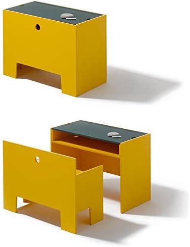 Lampert Wonder Caja Mesa y Banco en Signalgelb – Richard Muebles: Amazon.es: Hogar
