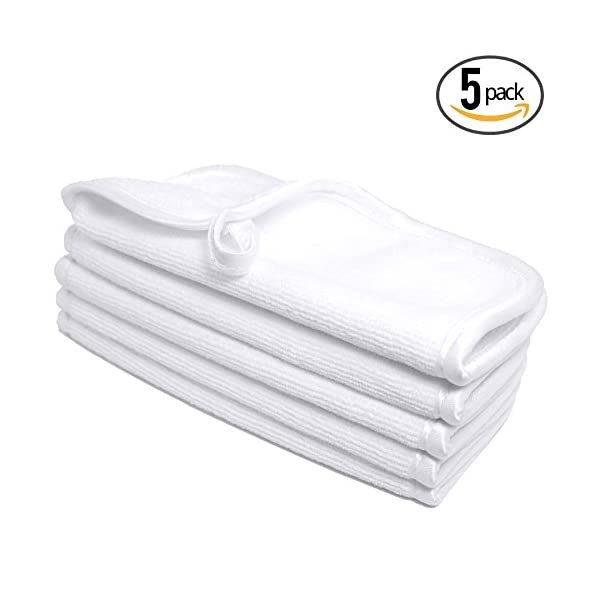 Premium Microfiber Facial Towels ~ Ultra Soft and Gentle Luxury Makeup Remover Wash Cloths with Silky Satin Border ~ TRC Skin Care