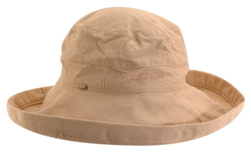 7d66f7e7 Galleon - Scala Women's Cotton Hat With Inner Drawstring And Upf 50+ Rating,Desert,One  Size