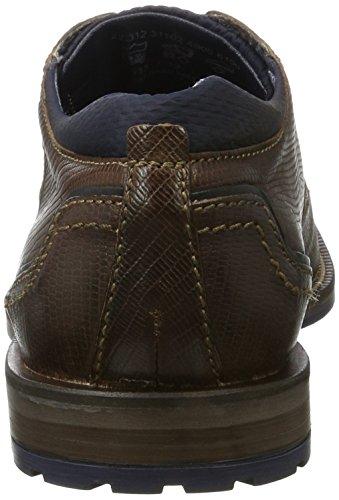 Bugatti Cordones Hombre Marrón Brown de Zapatos para Dark Derby 312311024900 RqranR