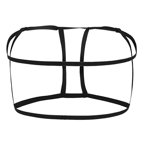 BeautyVan Women's Harness Bra Strappy Cage Lingerie Hollow Out Bra Lace Bralette Crop Top (Free Size, B)