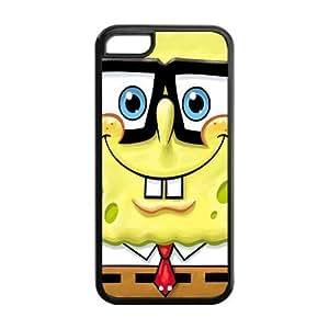 SpongeBob Solid Rubber Customized Cover Case for iPhone 5c 5c-linda754