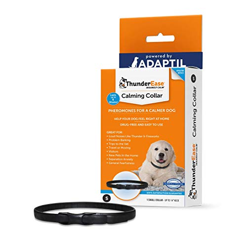 ThunderEase Calming Anti Anxiety Pheromone Collar for Dogs (Small)