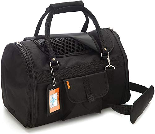 """Prefer Pets: Privacy Duffel - Pet Travel Carrier - 17""""L x 12""""H x 10""""D - Airline Approved Travel Carrier - Provides A Safe & Secure Way to Travel - Helps ()"""