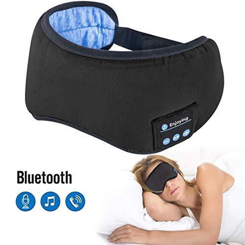 Sleep Headphones Bluetooth 5.0 Wireless Eye Mask - Homder Headphones Travel Sleeping Headband Built-in Speakers Microphone Handsfree Adjustable Washable