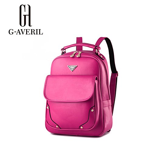 G-AVERIL GA1061-C - Bolso mochila  para mujer azul marino Large rosa roja