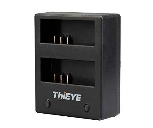 ThiEYE Action Camera i60e Battery Charger USB Dual Charging Dock for 4K i60e Sports Camera, Suitable for SJCAM Cameras by ThiEYE