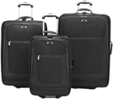 Black Skyway Luggage Epic 21 Inch 2 Wheel Expandable Carry On