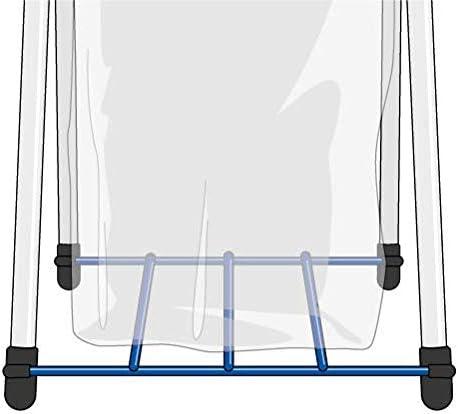 con Griglia Reggisacco Portasacco Raccolta Differenziata Gimi Nature Plus 2 Portarifiuti 71,5 x 40 x 82 cm Acciaio//Resina Antiruggine Capacit/à Sacco fino a 130 L