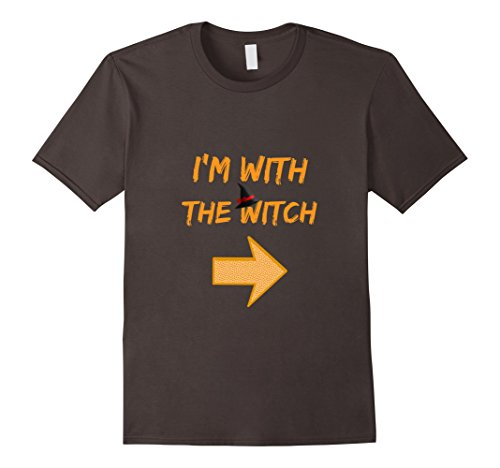 Mens Couples I'm With The Witch Halloween Costume T-shirt For Men XL Asphalt