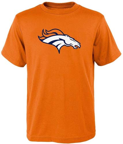 Outerstuff Denver Broncos Orange Youth Performance Primary Logo T-Shirt (Large 14/16)