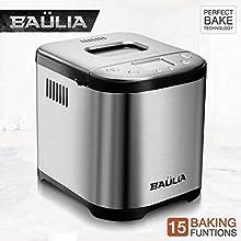 Baulia BM822 Automatic Bread Maker Machine, Gluten/Sugar-Free Functions 15 Programmable Bread Types Settings