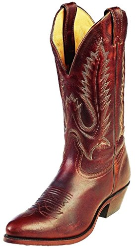 Bottes américaines - santiags: bottes country BO-7032-72-EEE (pied fort) - Homme - Marron