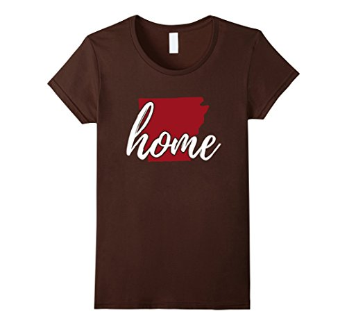 Womens Arkansas Home T Shirt  Home Arkansas T Shirt   Arkansas Tee Xl Brown